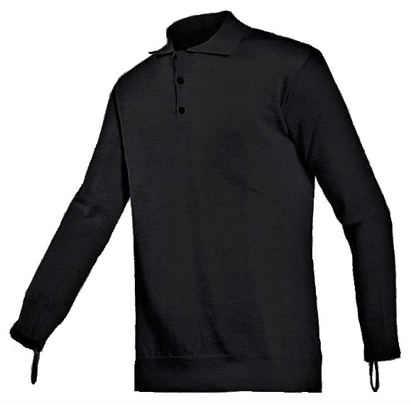 Torskin cut resistant polo  with long sleeves black