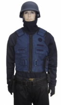 Blue stab, fire and NIJ-3A(04)  bulletproof police sweater carrier Nomex-Kevlar-Spectra