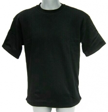 Cut resistant T-shirt / Coolmax-Cutyarn-Polyester / Short sleeves / Black