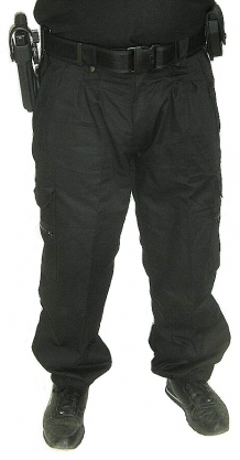 Cut resistant Combat pants / Water-repellent Cotton-Cutyarn / Black VBR-Belgium