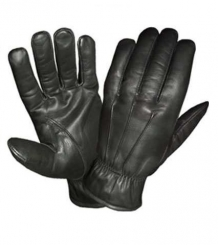 Cut resistant black leather gloves level 5