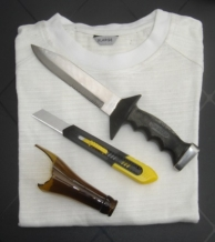 Cut resistant T-shirt / Spectra-Coolmax / Without sleeves / Wit